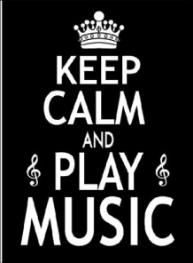 Keep Calm And Play Music Wenskaart