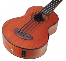 Mahalo Electric Ukulele Bass Trans Brown